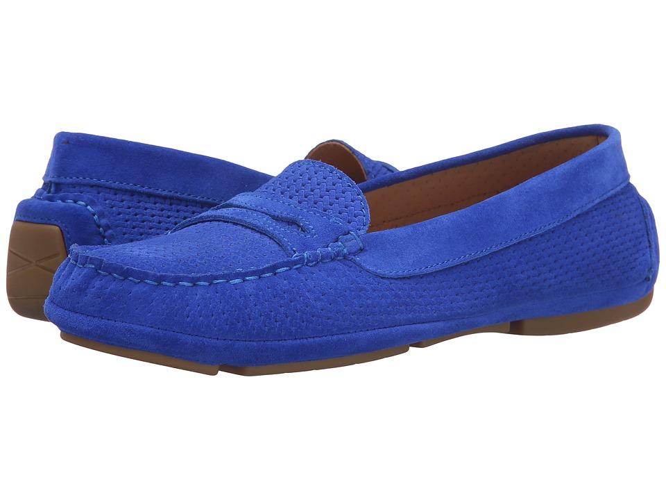 Aquatalia - Sawyer (Cobalt Suede) Women's Slip on Shoes