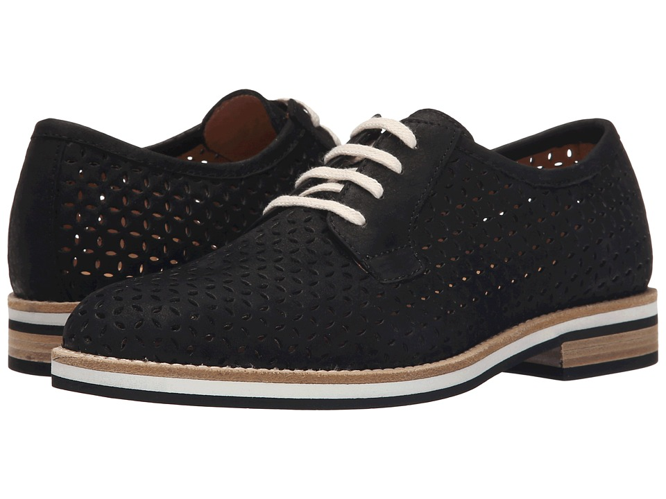 Aquatalia - Zola (Black Perf Thumbled Nubuck) Women's Shoes
