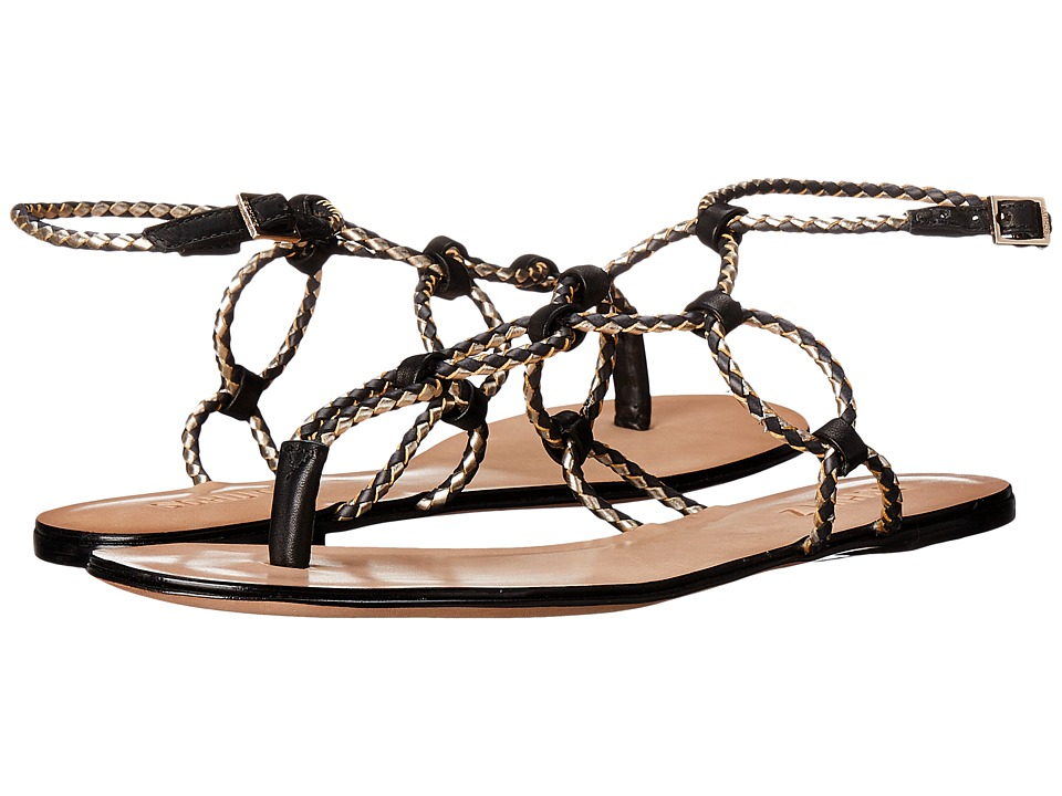 Schutz - Veda (Black/Platina) Women's Sandals