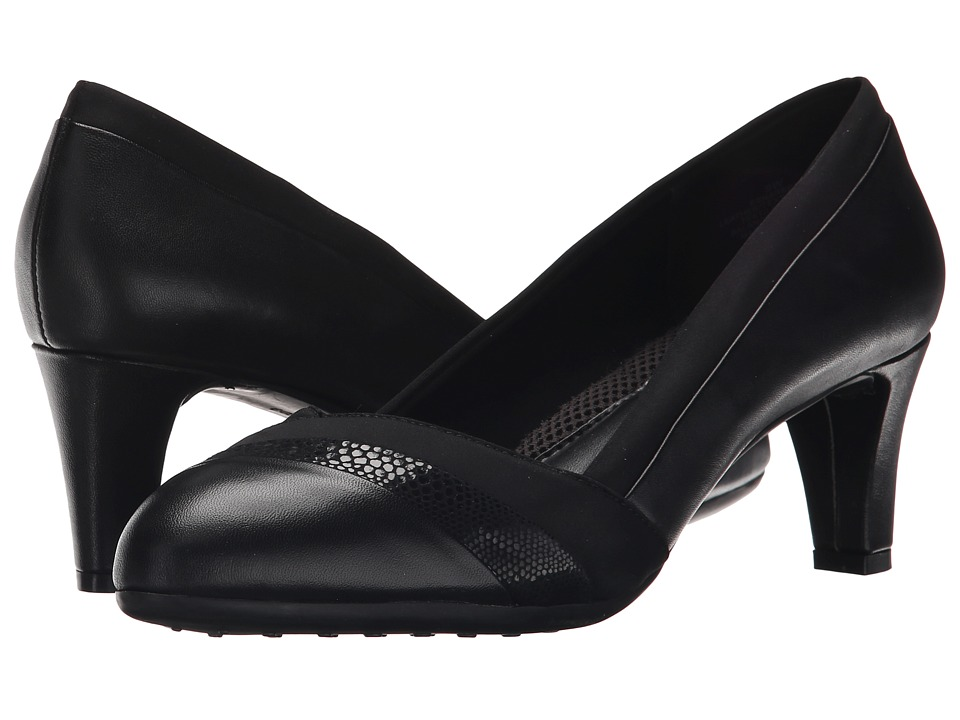 Easy Spirit - Nareen (Black Multi Combo Leather) High Heels