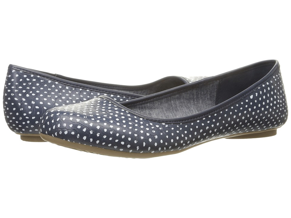 Dr. Scholl's - Friendly (Navy Dab Dot) Women's Flat Shoes