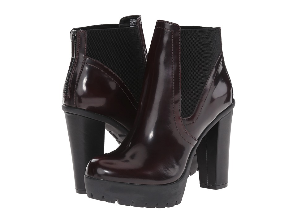 Steve Madden - Amandaa (Burgundy) Women's Dress Zip Boots