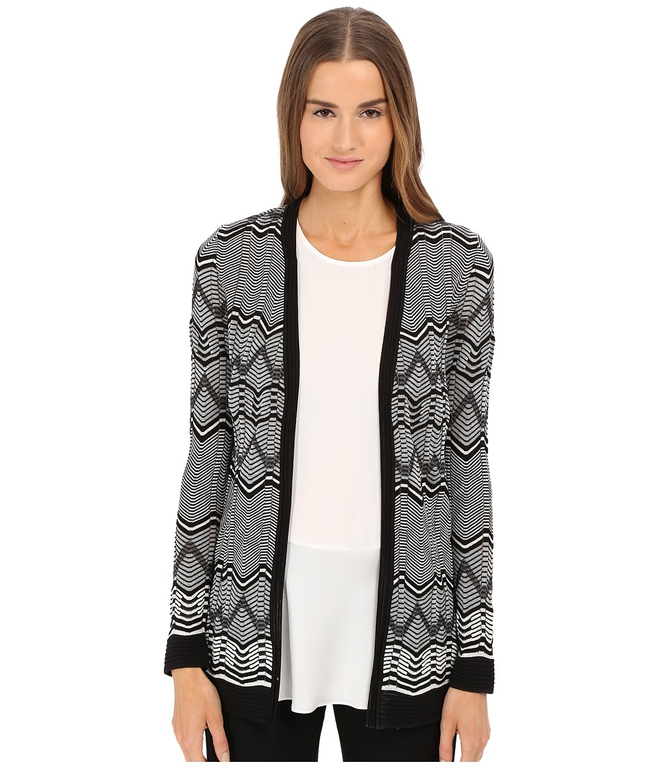 M Missoni - Frequency Zigzag Cardigan (Black) Women's Sweater
