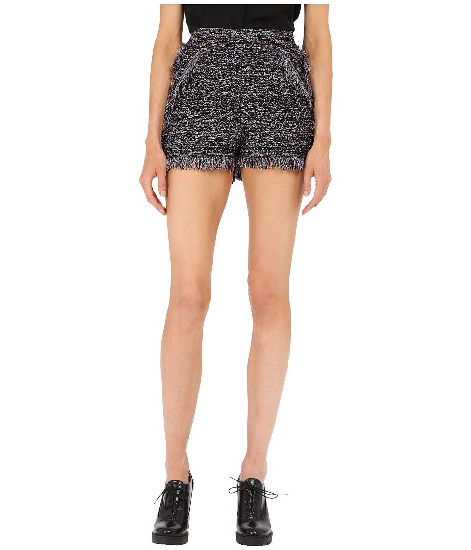 M Missoni - Lurex Fringe Shorts (Black) Women's Shorts