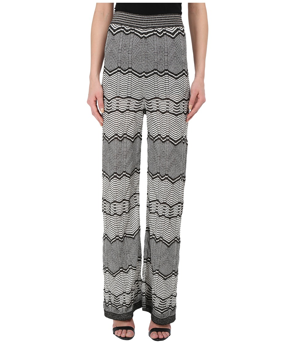 M Missoni - Lurex Two-Tone Pants (Black) Women's Casual Pants