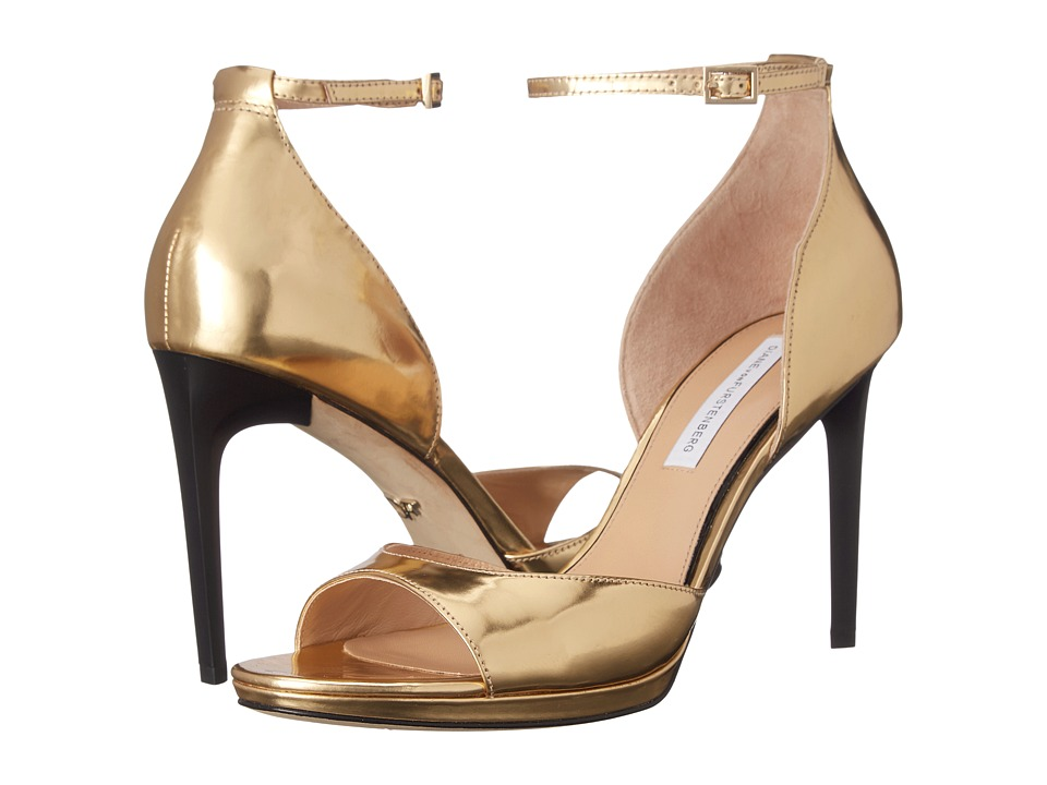 Diane von Furstenberg - Jalen (Gold Liquid Specchio) Women's Shoes
