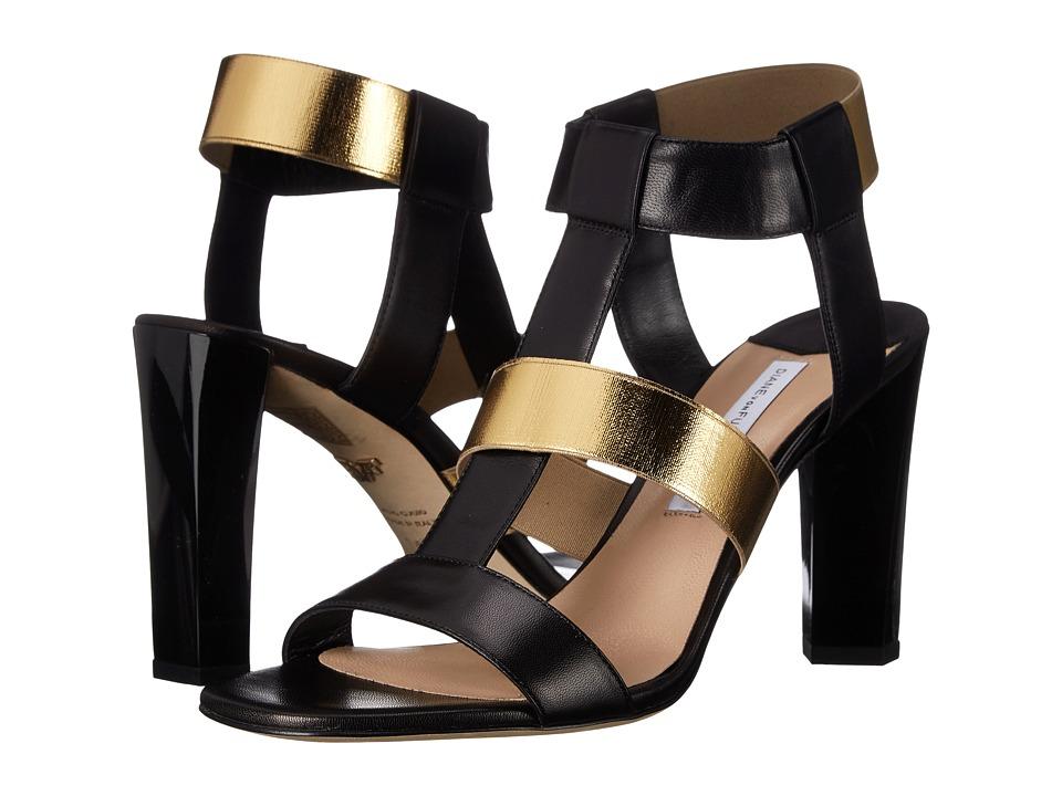 Diane von Furstenberg - Selah (Black Leather/Elastic) Women's Shoes