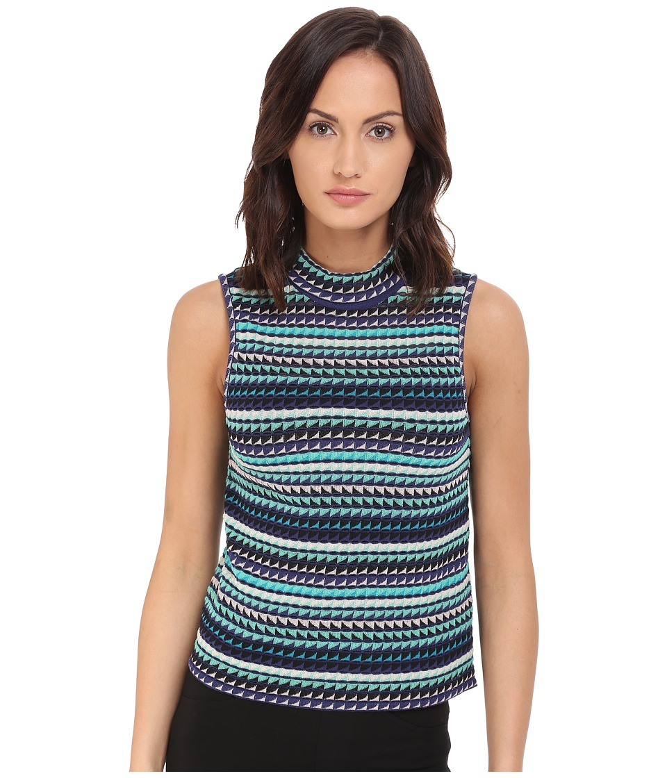 M Missoni - Micro Triangle Mock Top (Mint) Women's T Shirt
