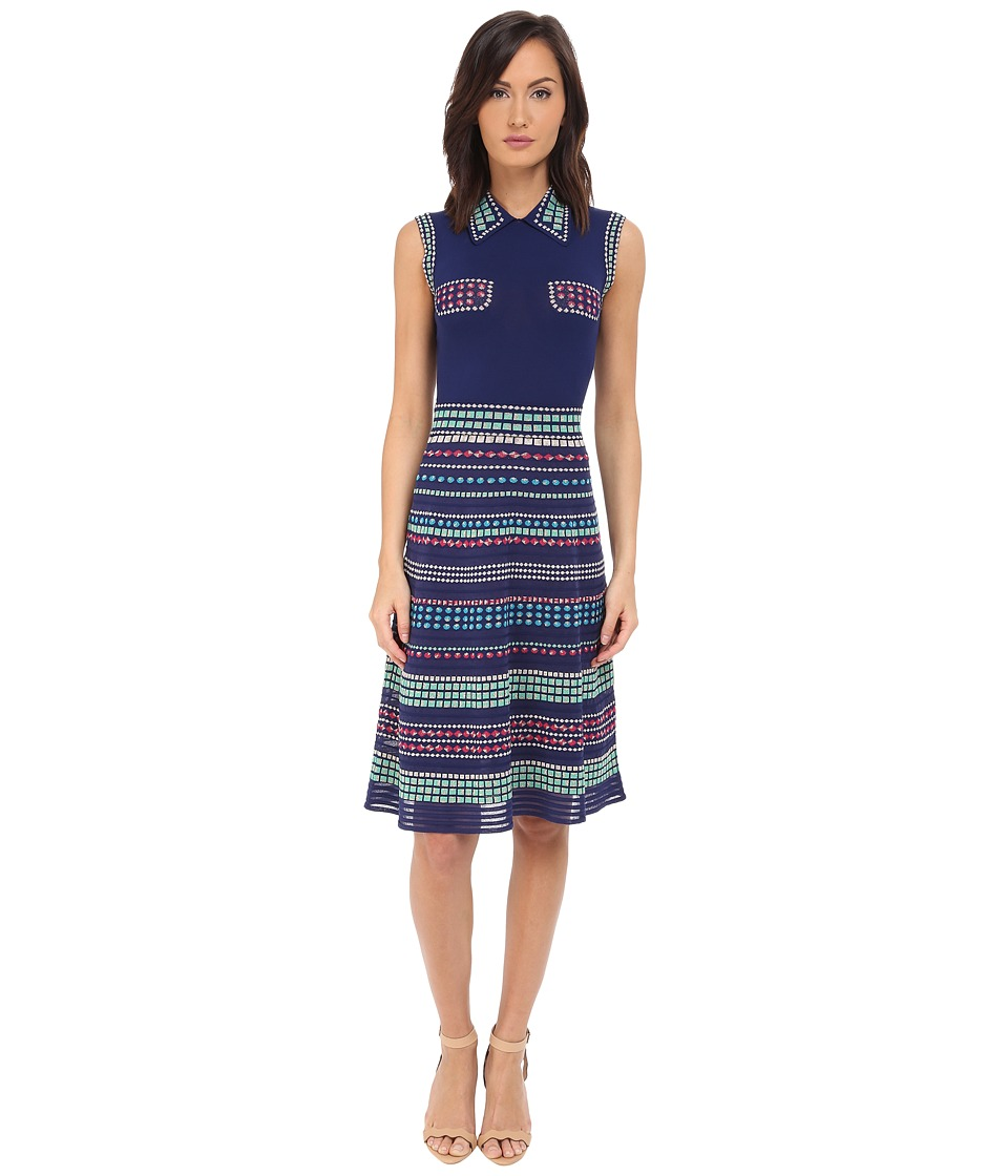 M Missoni - Multi Rivet Stripe Dress (Marine) Women's Dress