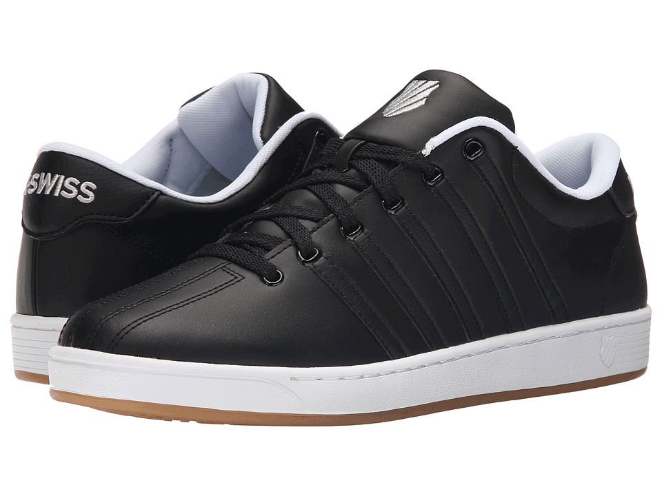 K-Swiss - Court Pro II CMF (Black/Black/Gum Leather) Men's Lace up casual Shoes