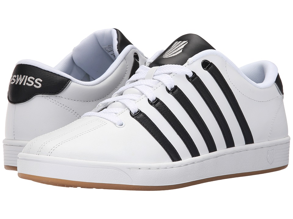 K-Swiss - Court Pro II CMF (White/Black/Gum Leather) Men's Lace up casual Shoes