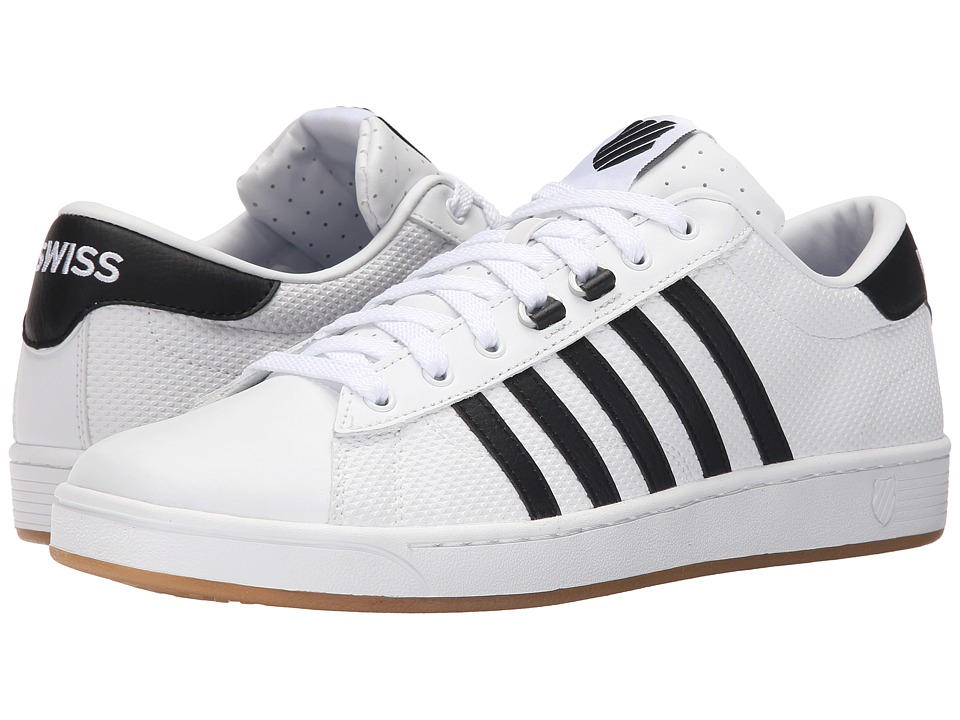 K-Swiss - Hoke EQ CMF (White/Black/Dark Gum Leather) Men's Court Shoes