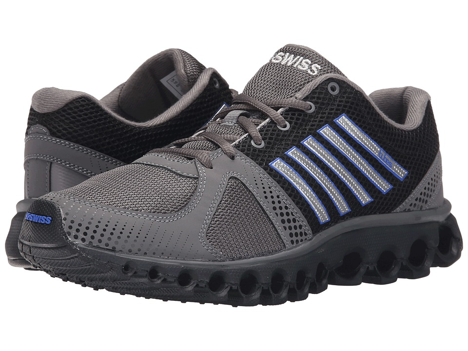 K-Swiss - X-160 CMF (Charcoal/Black/Electric Blue Mesh) Men's Cross Training Shoes