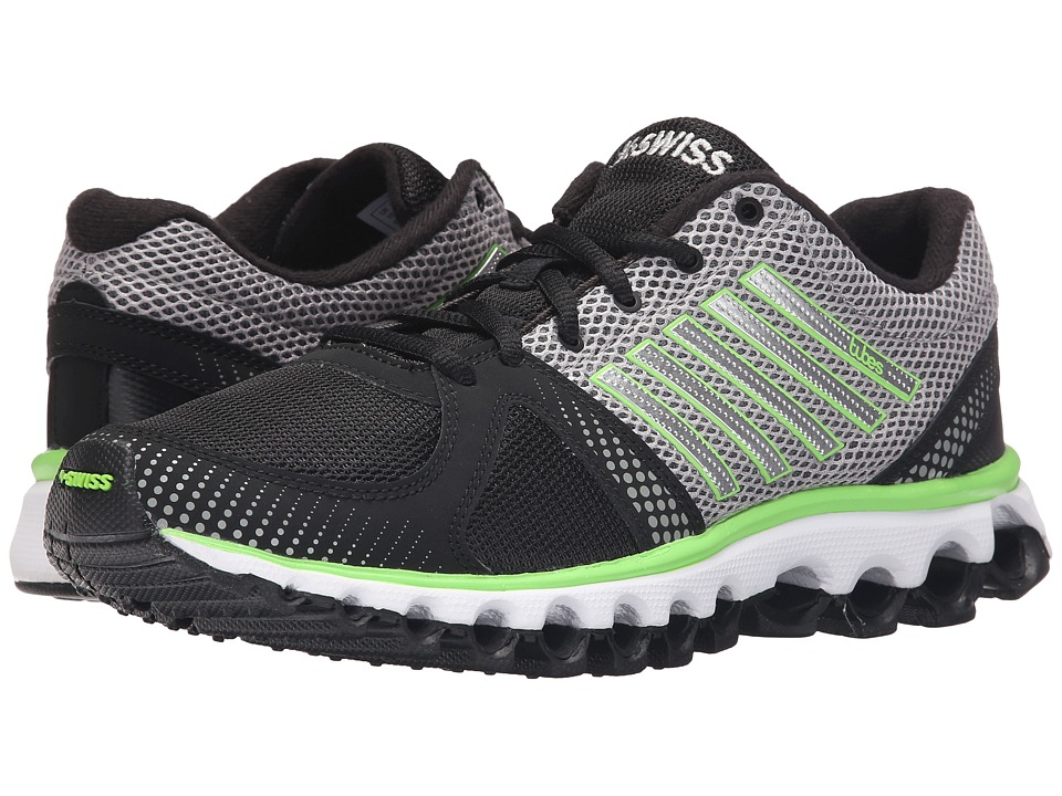 K-Swiss - X-160 CMF (Black/Neutral Gray/Flash Green Mesh) Men's Cross Training Shoes