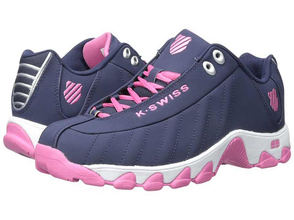K-Swiss - ST329 CMF (Navy/Shocking Pink Nubuck) Women's Running Shoes