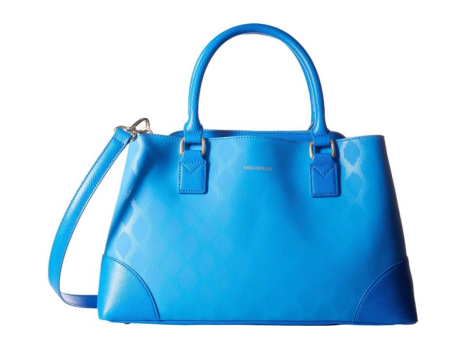 Vera Bradley - Emma Satchel (Ikat Diamonds Blue) Satchel Handbags