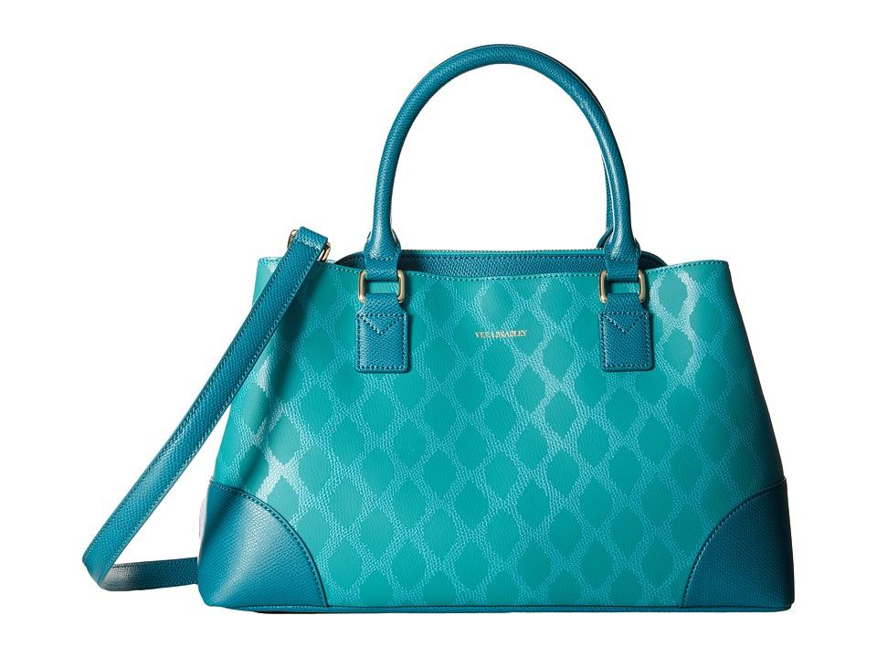 Vera Bradley - Emma Satchel (Ikat Diamonds Teal) Satchel Handbags