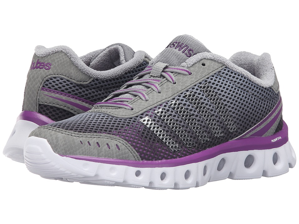 K-Swiss - X Lite Athletic CMF (Neutral Gray/Black/Purple Magic Mesh) Women's Cross Training Shoes