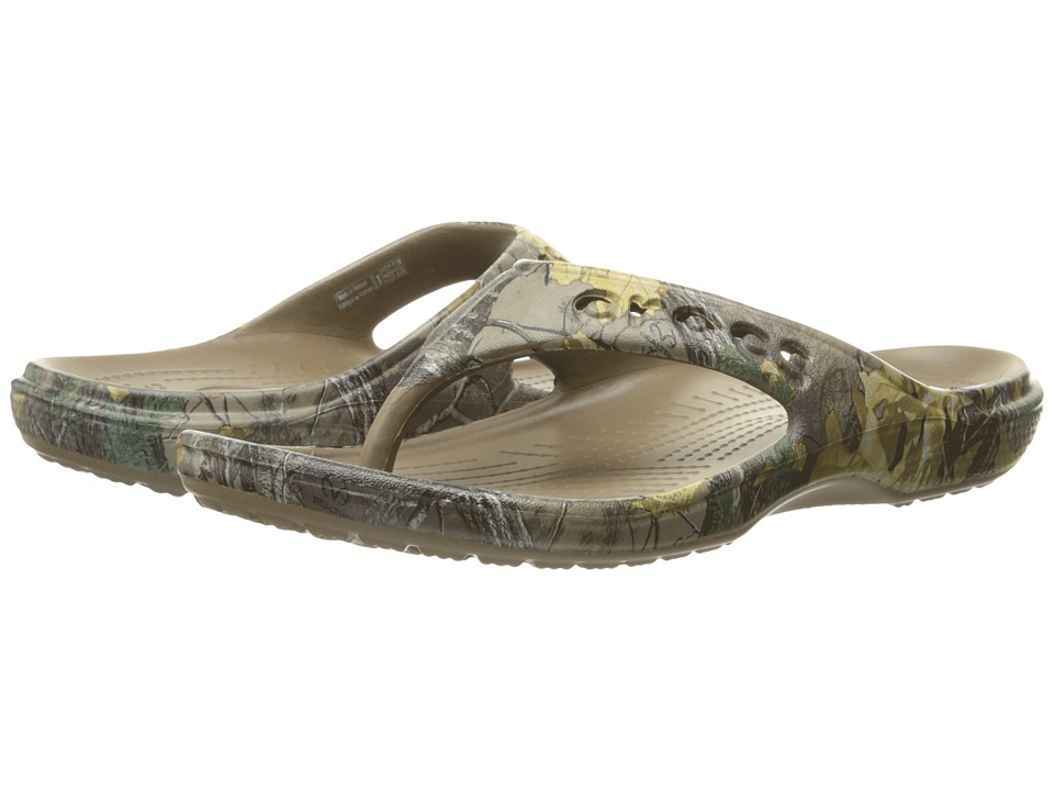 Crocs - Baya Realtree Xtra Flip (Walnut) Shoes