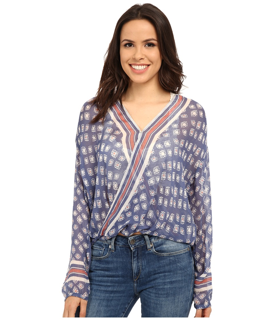 Free People - Before Dawn Top (Sapphire Combo) Women's Clothing
