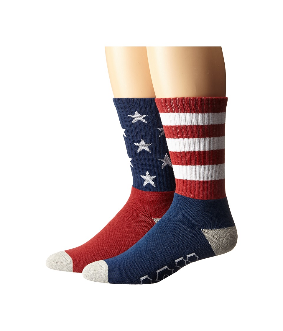 HUF - All American Crew Socks (America) Men's Crew Cut Socks Shoes