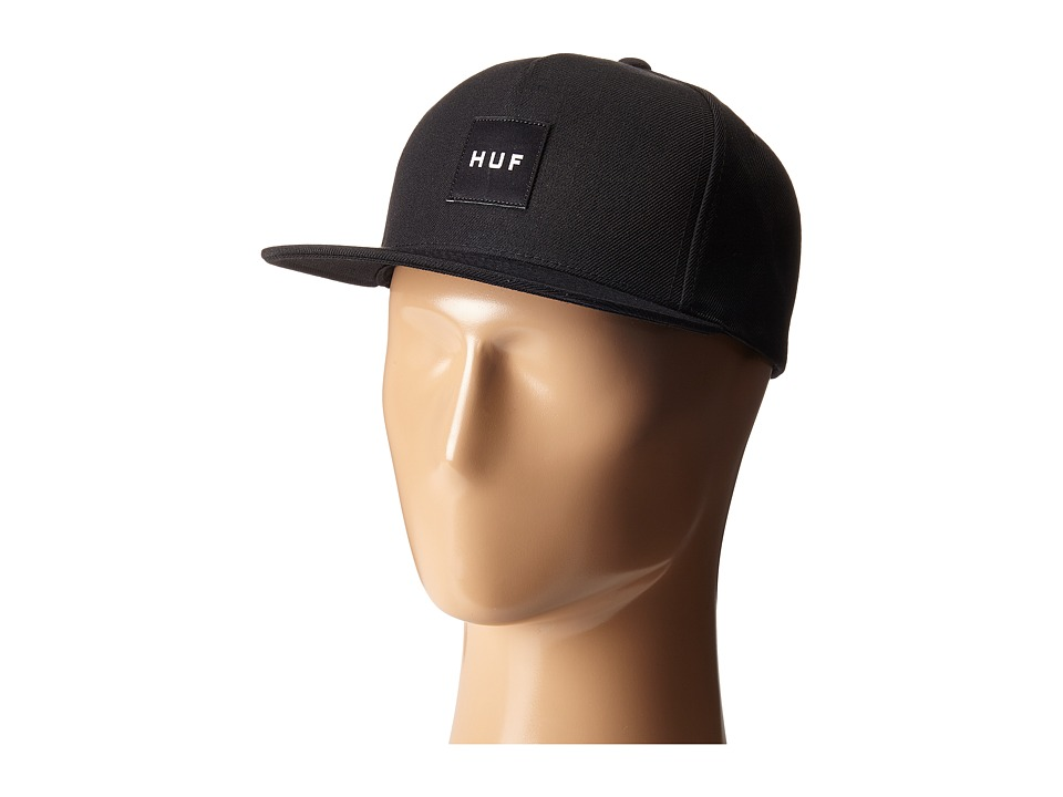 HUF - Box Logo Snapback (Black 2) Caps
