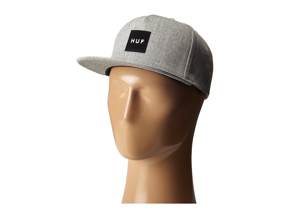 HUF - Box Logo Snapback (Charcoal) Caps