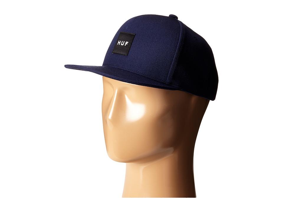 HUF - Box Logo Snapback (Navy 2) Caps
