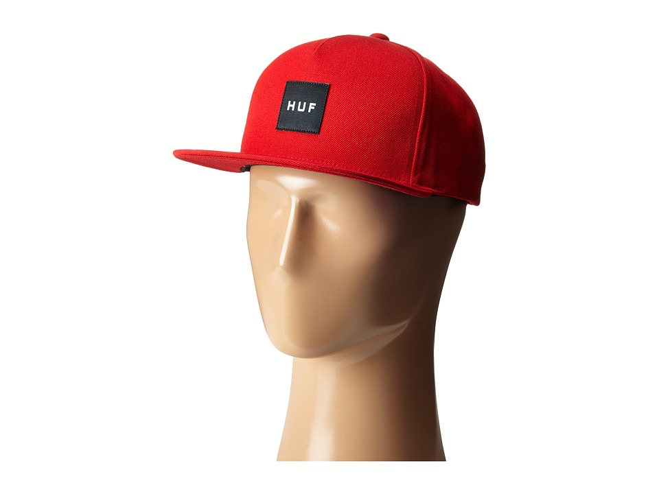 HUF - Box Logo Snapback (Red 2) Caps