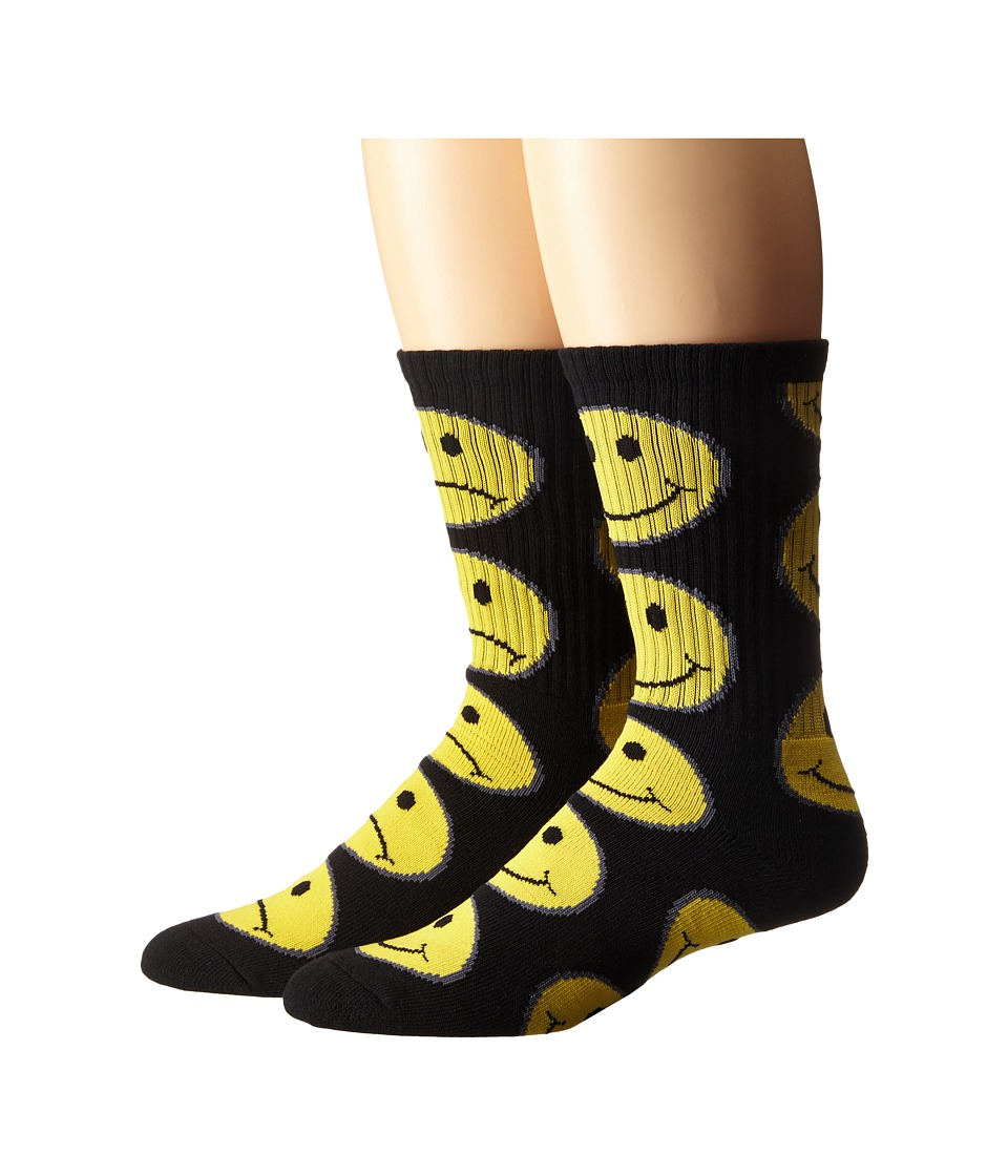 HUF - Have A Bi Polar Day Crew Socks (Black) Men