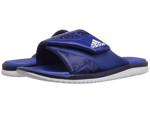 adidas - Carmoflage Slide (Royal/White/Graphic) Men