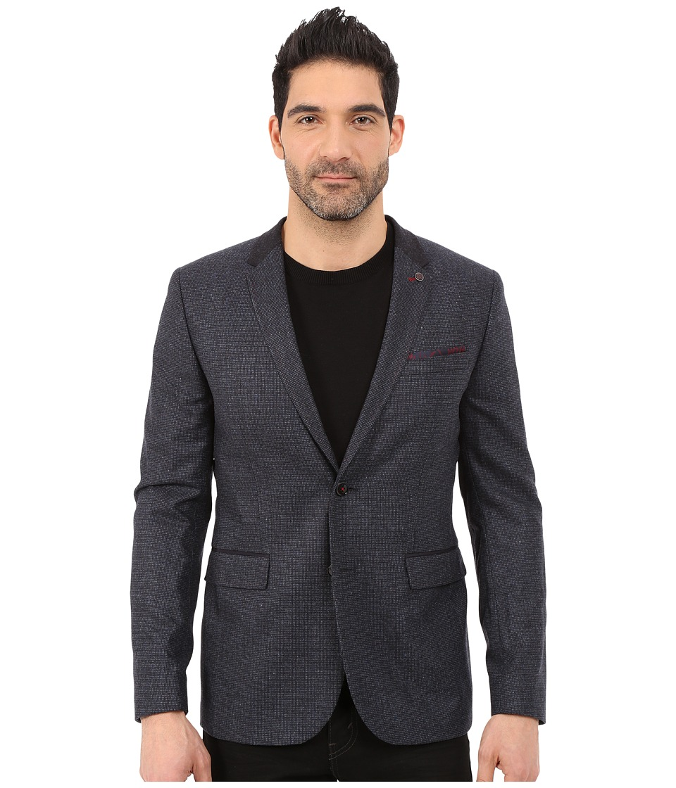 Ted Baker - Edeson Mini Design Contrast Blazer (Navy) Men's Jacket