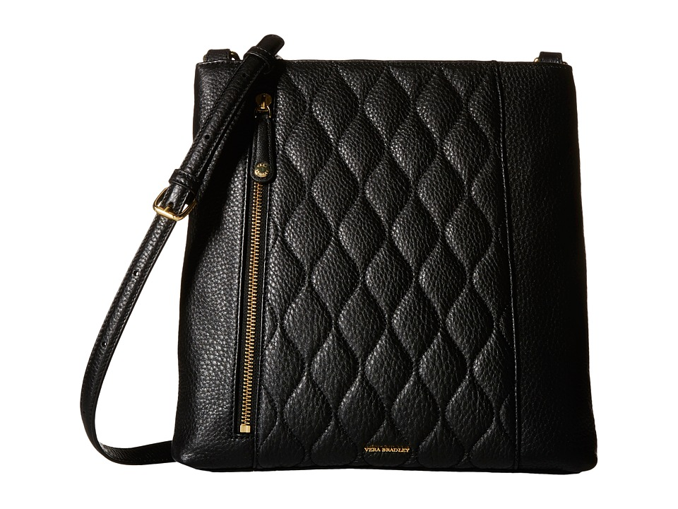 Vera Bradley - Quilted Molly Crossbody (Black) Cross Body Handbags