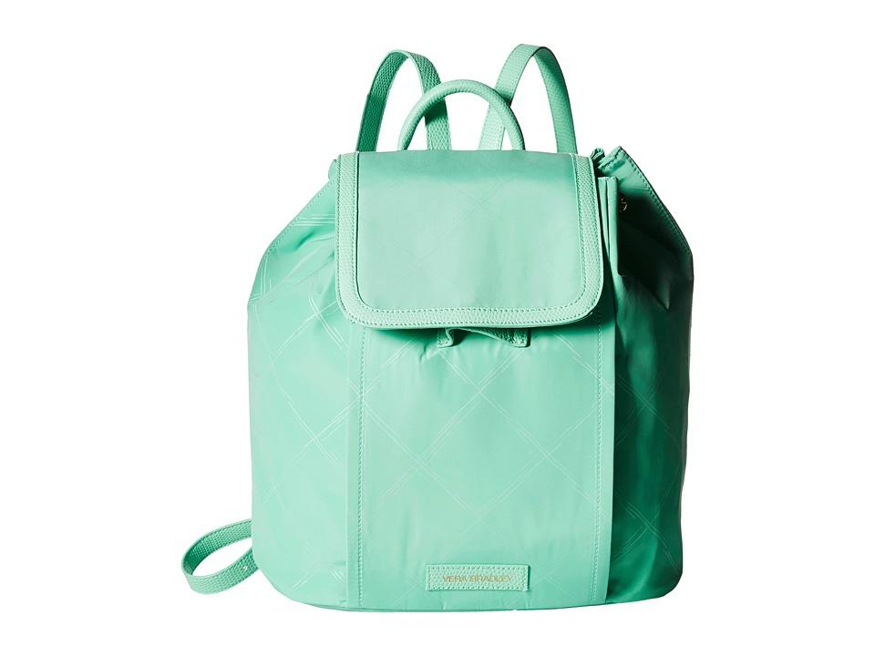 Vera Bradley - Preppy Poly Backpack (Mint) Backpack Bags