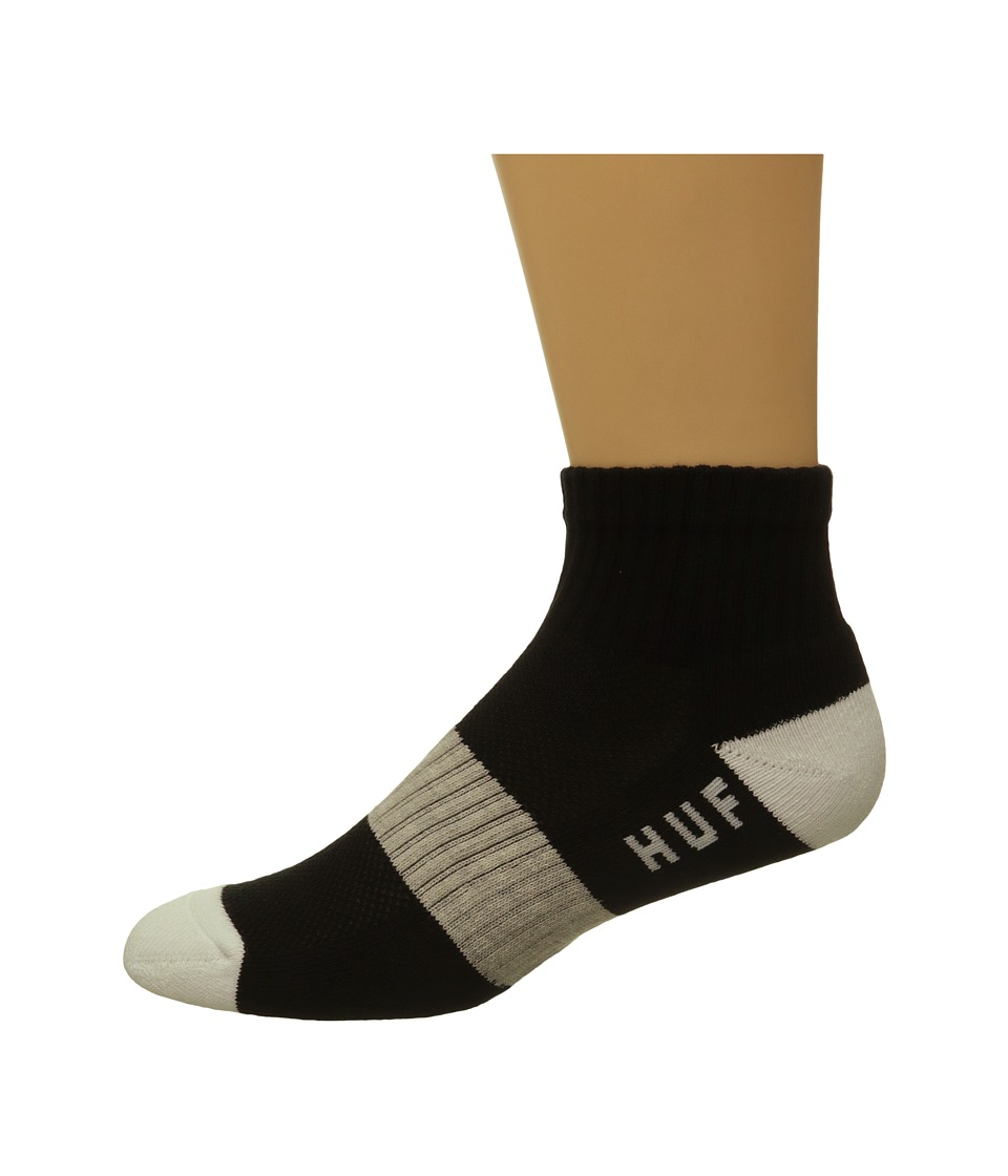 HUF - Performance Ankle Socks (Black) Men's Low Cut Socks Shoes
