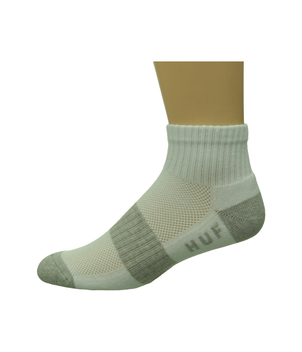 HUF - Performance Ankle Socks (White) Men's Low Cut Socks Shoes