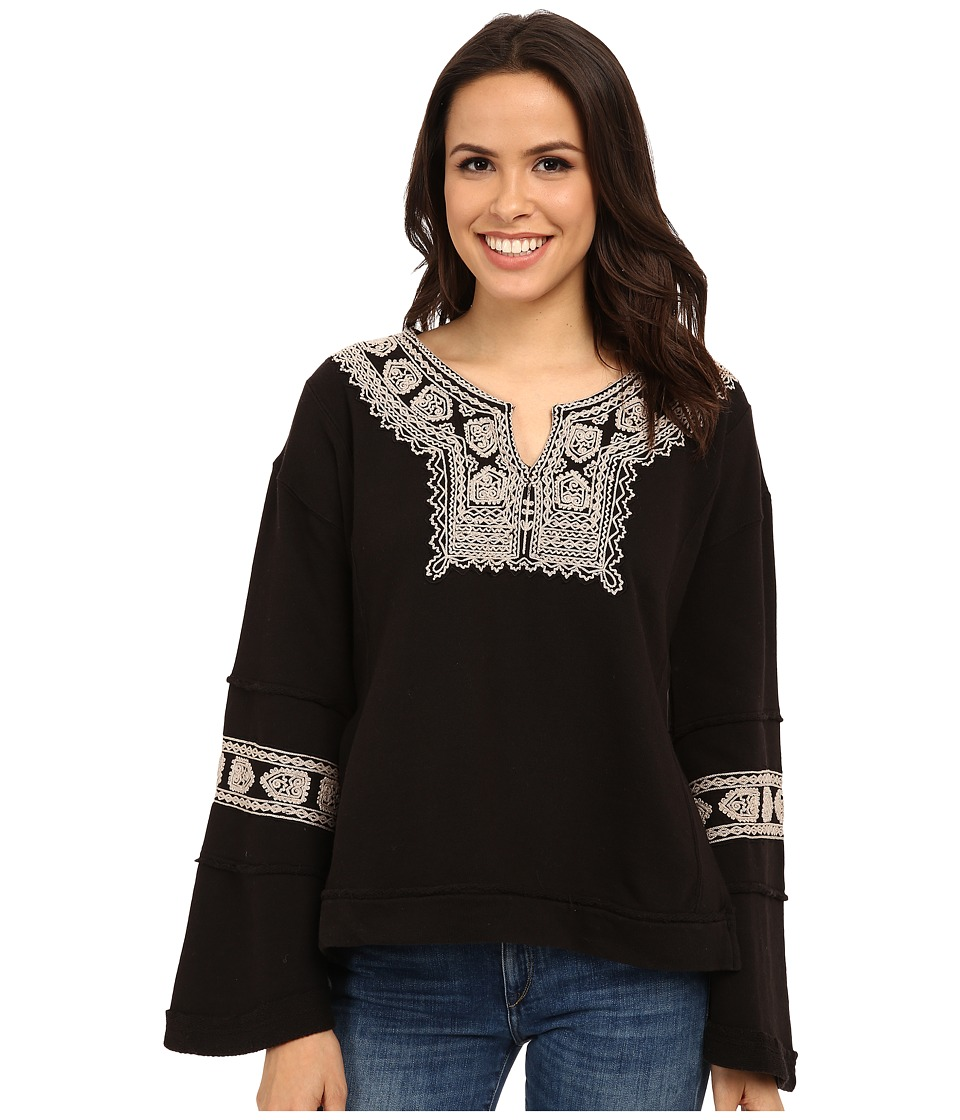 Free People - Tiger French Pullover (Black/Antique) Women's Long Sleeve Pullover