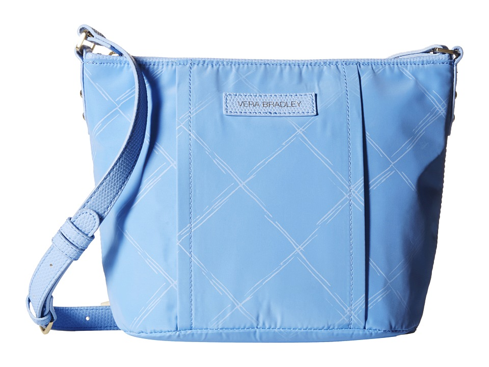Vera Bradley - Preppy Poly Crossbody (Sky Blue) Cross Body Handbags