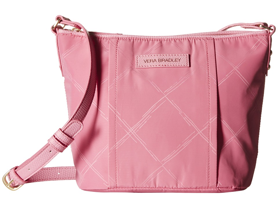 Vera Bradley - Preppy Poly Crossbody (Blossom Pink) Cross Body Handbags