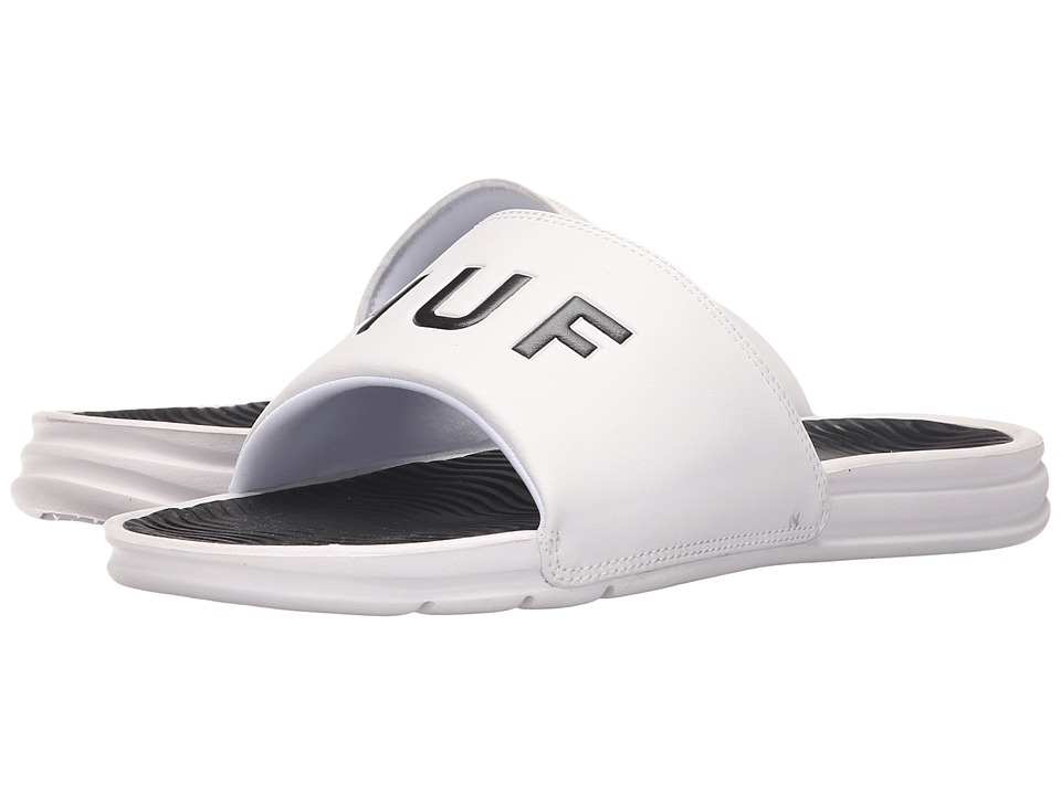 HUF - HUF Slide (White) Men's Skate Shoes