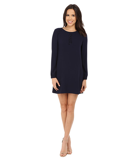 Jessica Simpson - Satin Back Crepe Dress (Navy) Women's Dress