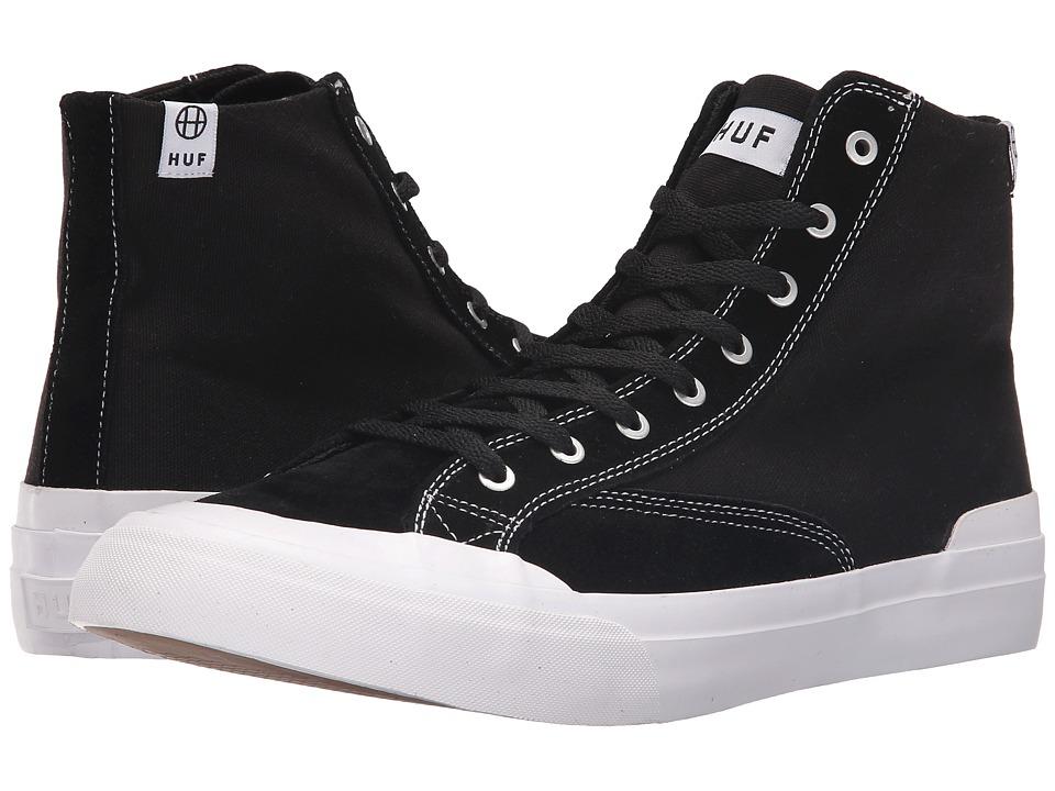 HUF - Classic Hi Ess (Black/White) Men's Skate Shoes