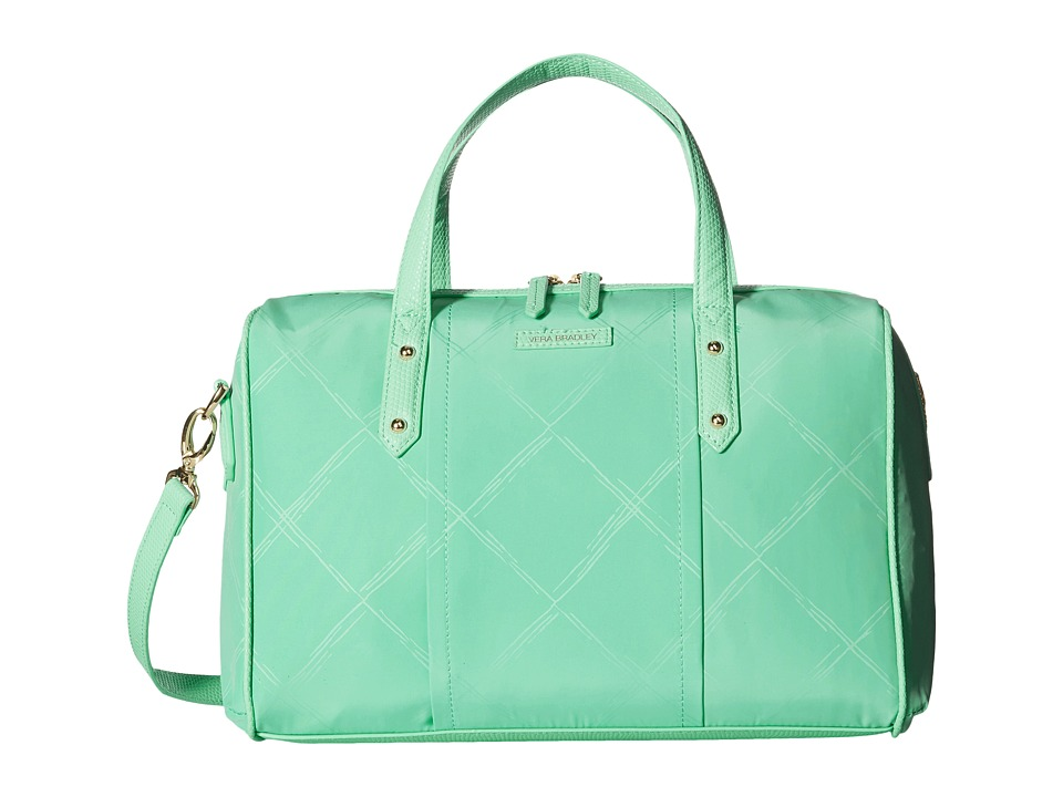 Vera Bradley - Preppy Poly Marlo Satchel (Mint) Satchel Handbags