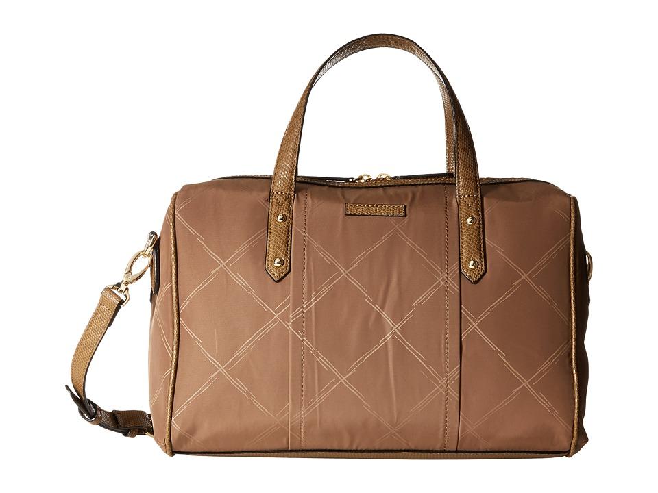 Vera Bradley - Preppy Poly Marlo Satchel (Toast) Satchel Handbags