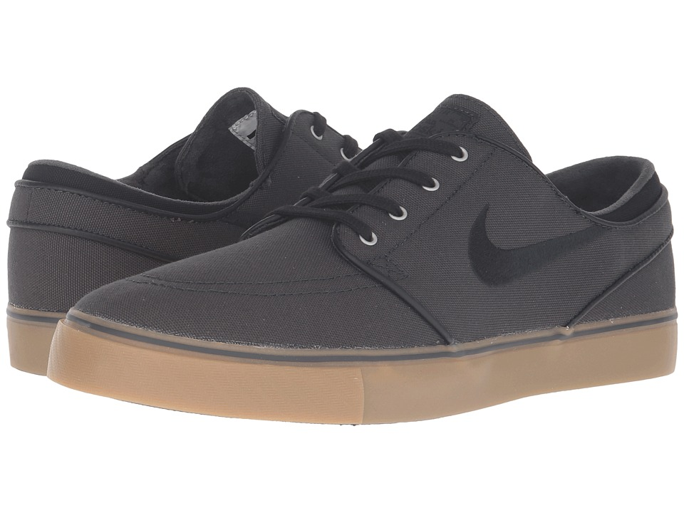 Nike SB - Zoom Stefan Janoski Canvas (Anthracite/Black/Gum Medium Brown/Metallic Gold) Men's Skate Shoes