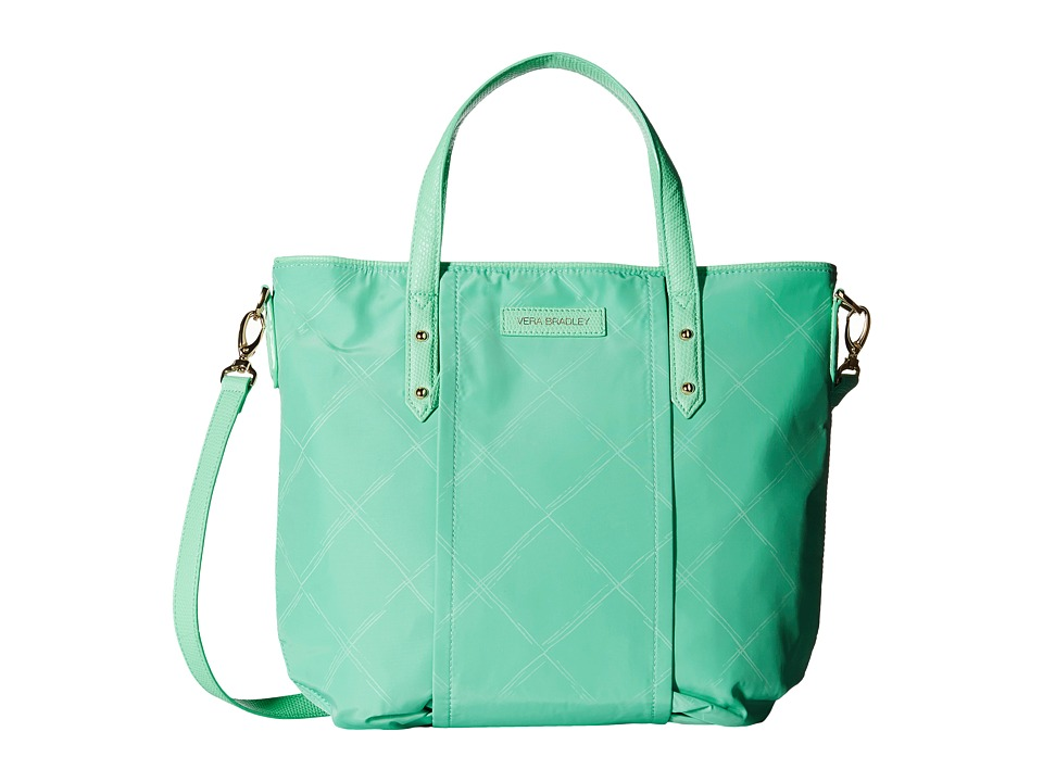 Vera Bradley - Preppy Poly Satchel (Mint) Satchel Handbags