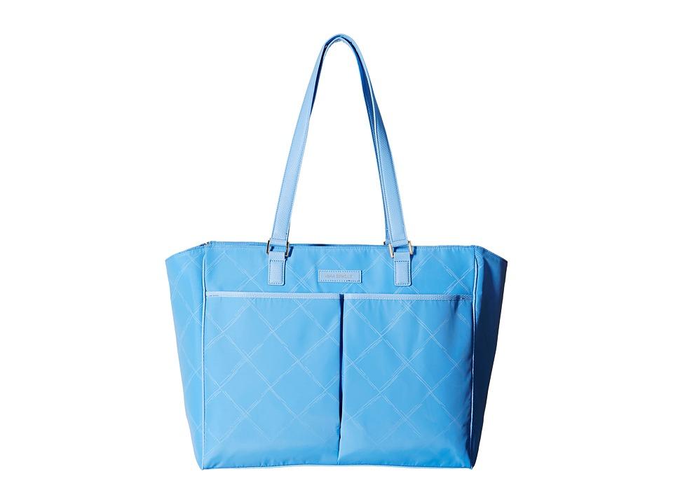 Vera Bradley - Preppy Poly Uptown Baby Bag (Sky Blue) Diaper Bags