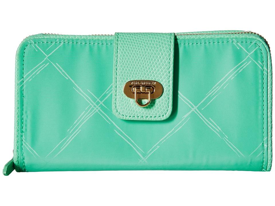 Vera Bradley - Preppy Poly Wallet (Mint) Wallet Handbags