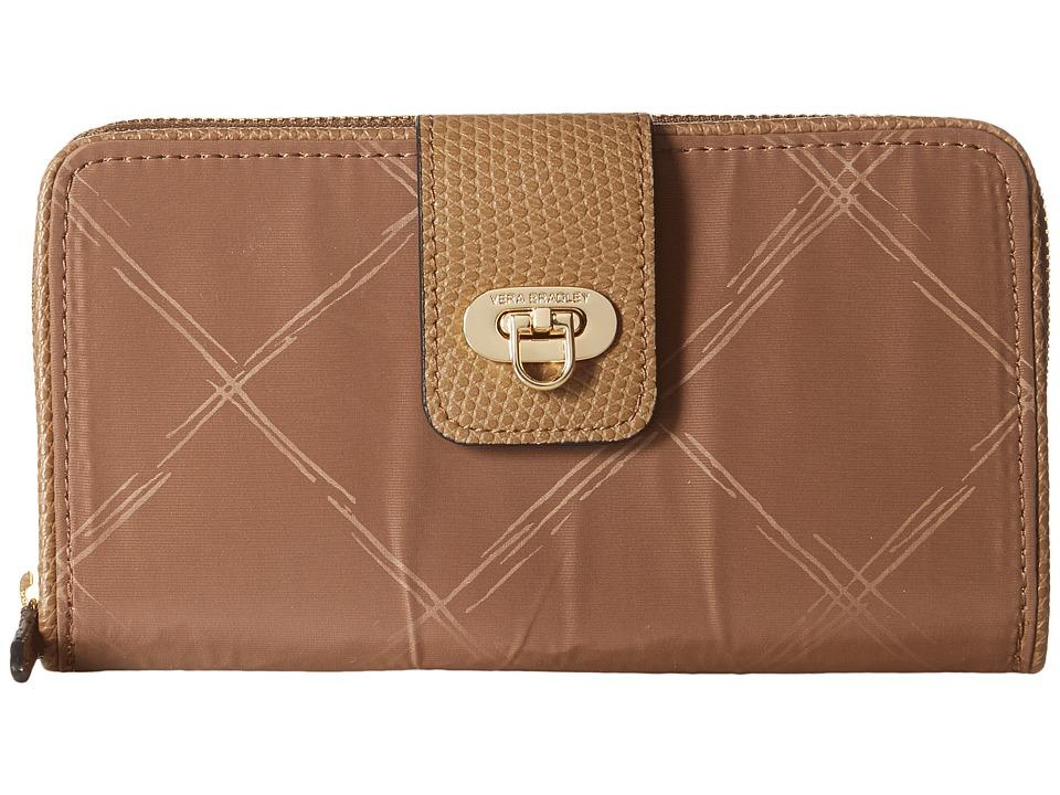 Vera Bradley - Preppy Poly Wallet (Toast) Wallet Handbags