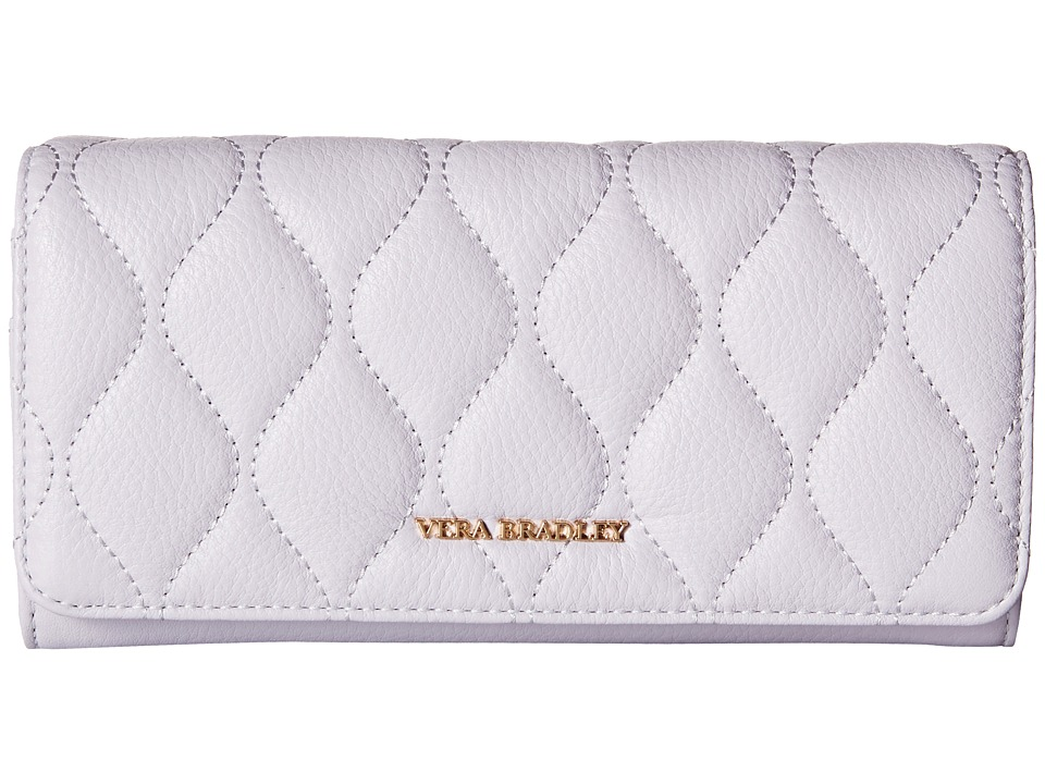 Vera Bradley - Quilted Audrey Wallet (Cloud Gray) Wallet Handbags